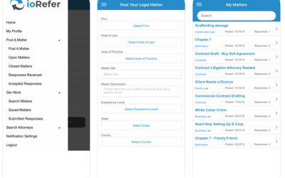 ioRefer Legal Referral and Matter Staffing App Now Available for Android and iOS